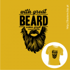 T-shirt personalizada - With great beard comes great responsability; Beard; Barba; Responsabilidade; Responsability; T-shirt;