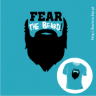 T-shirt personalizada - Fear the Beard; Beard; Barba; T-shirt; Fear;