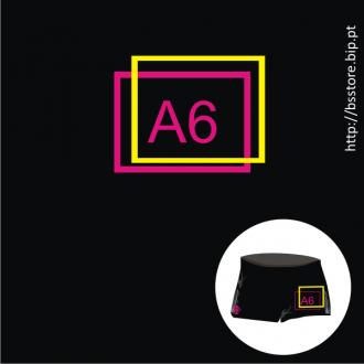 Boxer personalizado com impressão A6 a 2 cores