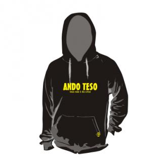 Sweat com capuz personalizada - ANDO TESO, mas não é da crise