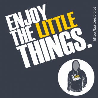Sweat c/ capuz personalizada - Enjoy the little things; Enjoy; Motivação; Atitude;
