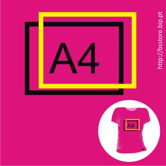 T-shirt mulher Personalizada com impressão a 2 cores