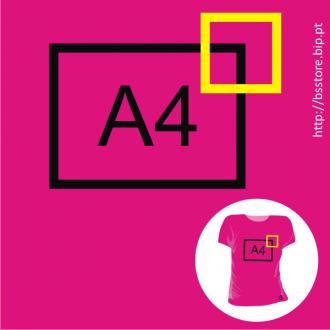 T-shirt mulher Personalizada com impressão a 2 cores pequena