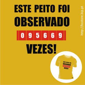 T-shirt personalizada - Este peito foi observado...; Picantes; Peito; Observação; T-shirt