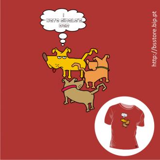 T-shirt personalizada - I hate single's bar; Hate; single's bar; dogs;