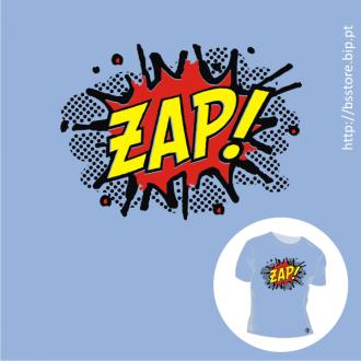 T-shirt personalizada - ZAP; BD; Banda desenhada; Cómicos; Onomatopeia;