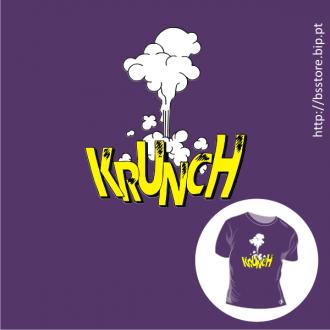 T-shirt personalizada - Krunch; BD; Banda desenhada; Cartoons; Som; Cómicos; Onomatopeia;