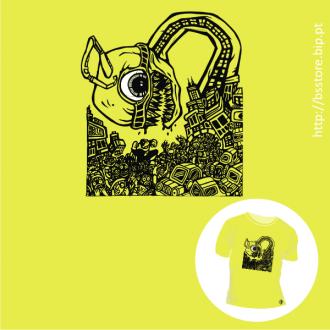 T-shirt personalizada - Comic destruction; BD; Banda desenhada; Cómicos; Destruição;