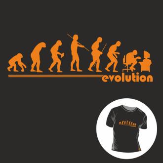 T-shirt personalizada - Human evolution - Informatics
