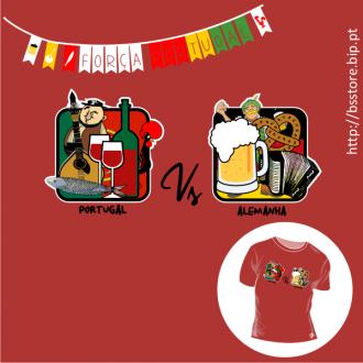 T-shirt personalizada - Mundial 2014; Portugal vs Alemanha; Mundial 2014; Futebol; Portugal; Seleção Nacional; Alemanha;