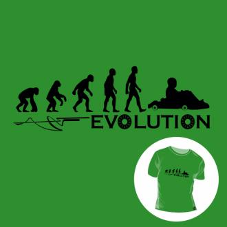 T-shirt personalizada - Human evolution - Roller car