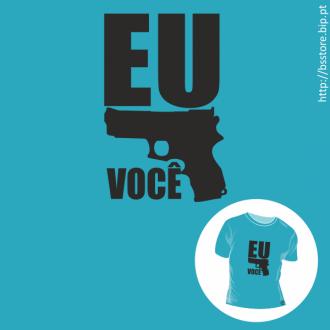 T-shirt personalizada - Eu mato você; eu amo você